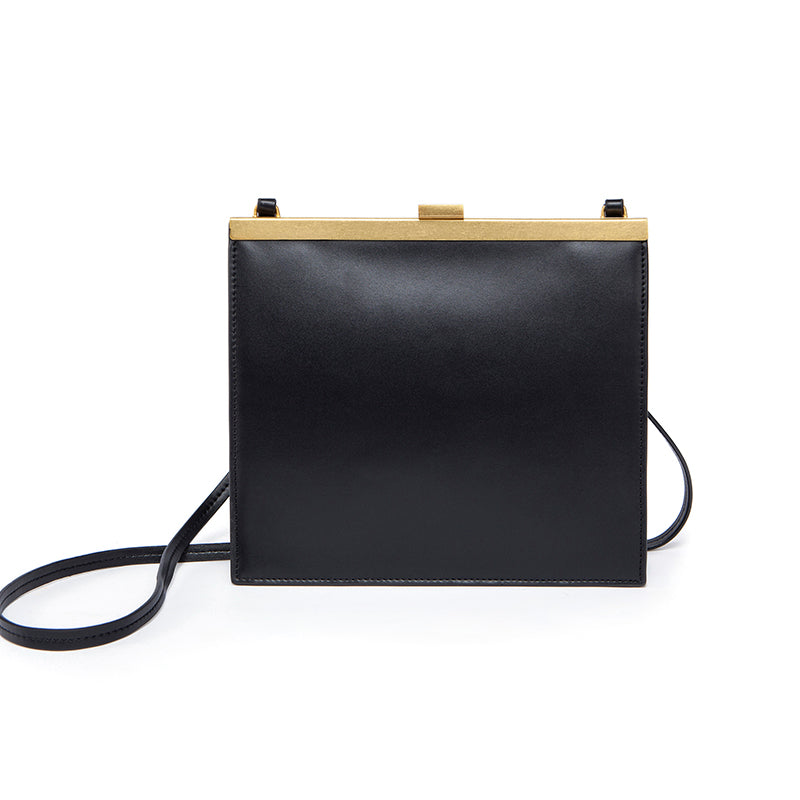 Leather Mini Messenger Bag - Cocus Pocus