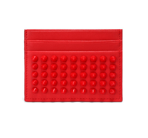 Leather Riveted Card Holder - Cocus Pocus