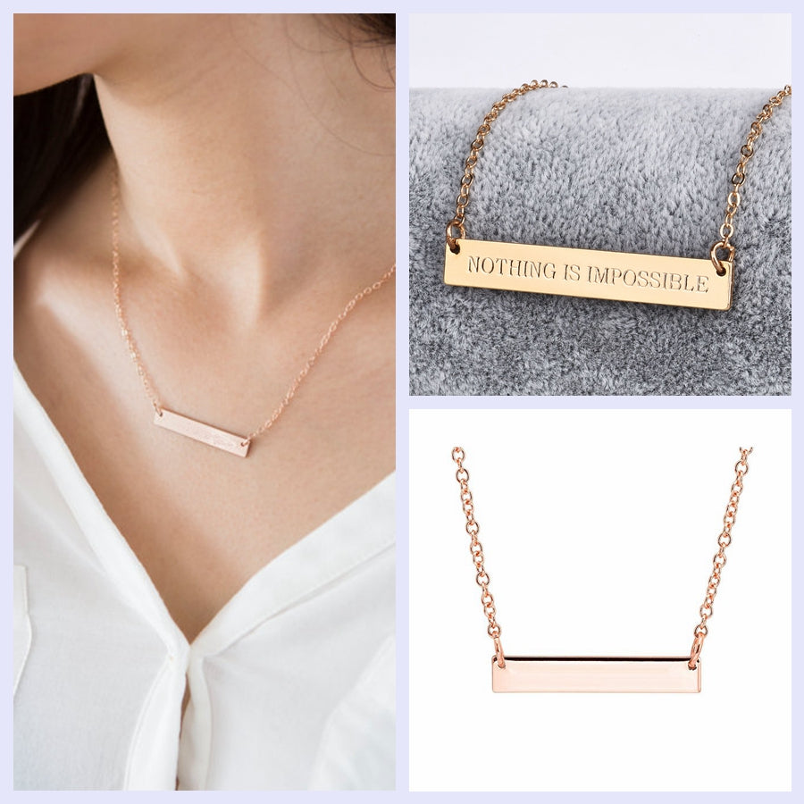 NOTHING IS IMPOSSIBLE Bar Necklace - Cocus Pocus