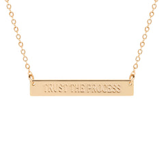TRUST THE PROCESS Bar Necklace - Cocus Pocus