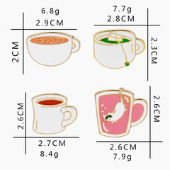 Coffee, Tea or Kitty Enamel Pins - Cocus Pocus