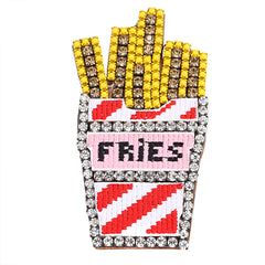 Fashion Fries Rhinestone Pin - Cocus Pocus