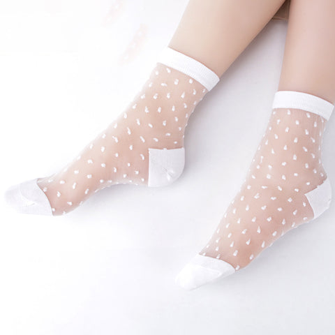 White Anklet Socks