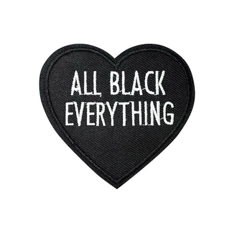 ALL BLACK EVERYTHING Black Heart Patch - Cocus Pocus