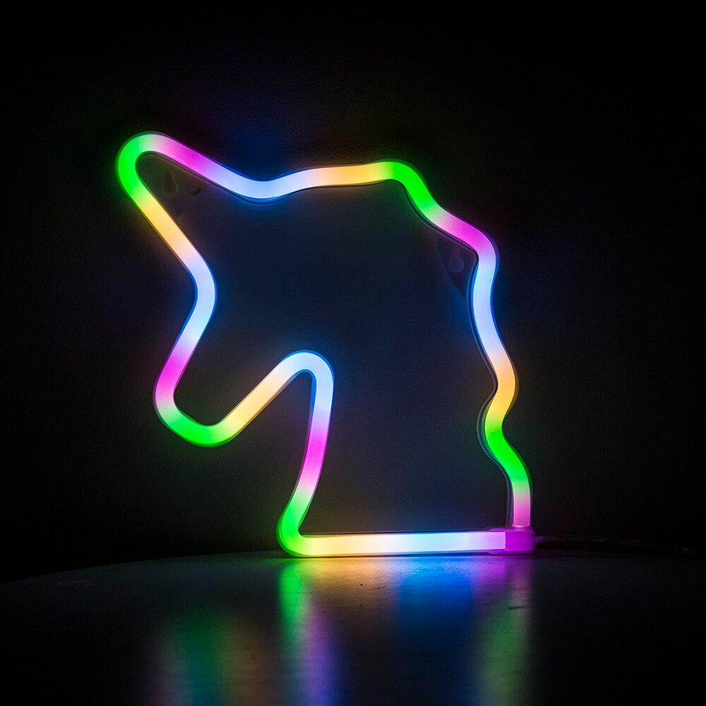 Neon Unicorn Sign - Cocus Pocus