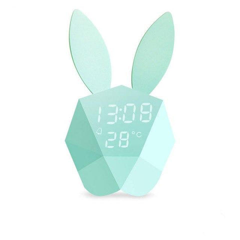 Rabbit  Alarm Clock with Temperature Display - Cocus Pocus