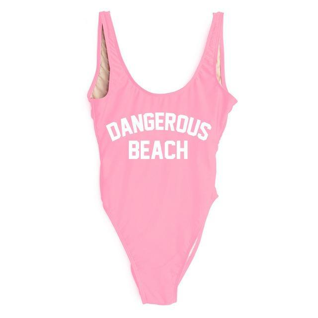 DANGEROUS BEACH One Piece Swimsuit - Cocus Pocus