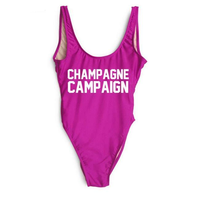 CHAMPAGNE CAMPAIGN One Piece Swimsuit - Cocus Pocus