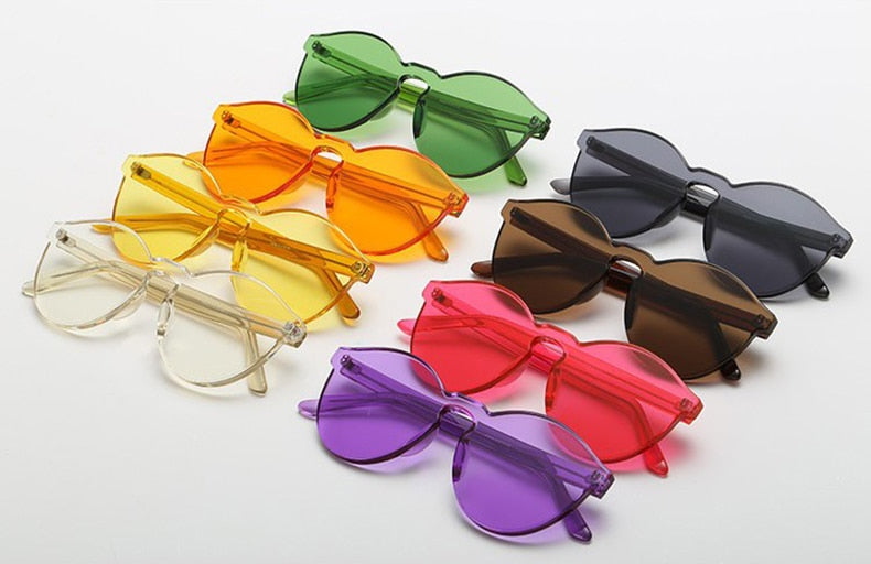 Candy Color Rimless Sunglasses - Cocus Pocus