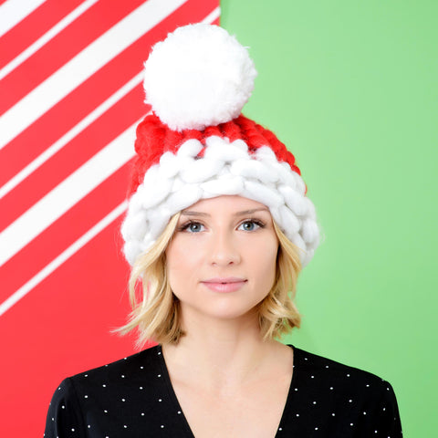 Chunky Knit Santa Hat - Cocus Pocus