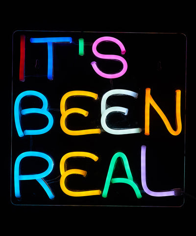 IT'S BEEN REAL LED Neon Wall Sign - Cocus Pocus