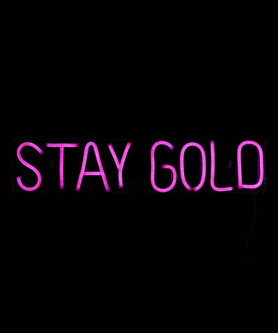 STAY GOLD LED Neon Wall Sign