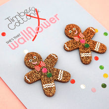 Gingerbread Man Statement Studs
