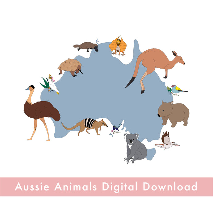 Aussie Animals Digital Download