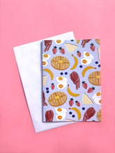 Breakfast Food A6 Greeting Card