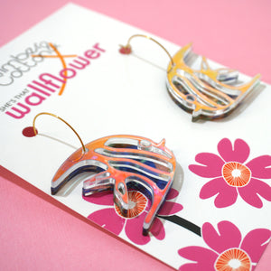 Retro Fish Hoop Earrings