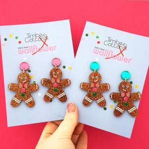 Gingerbread Man Dangles (2 colour options)