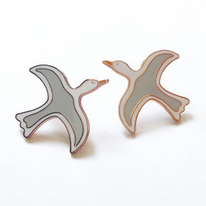 Seagull Enamel Earrings