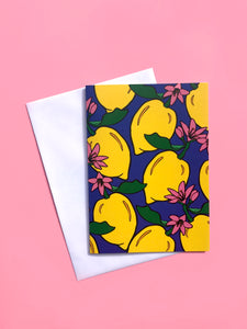 Lots of Lemons A6 Greeting Card