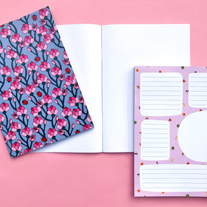 2 Pack A5 Recycled Blank Notebooks