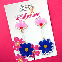 Art Floral Drop Earrings