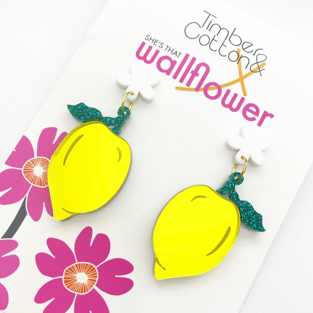 When Life Gives You Lemons Statement Earrings