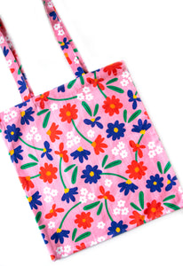 Art Floral Tote Bag