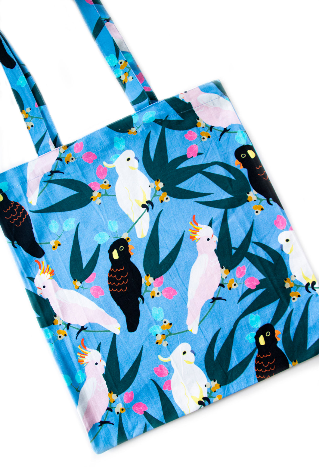 Cockatoos and Flora Tote Bag