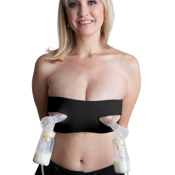 Pump Strap HandsFree Pumping & Nursing Bra – Pump More in Less Time - Fits All Moms, Black