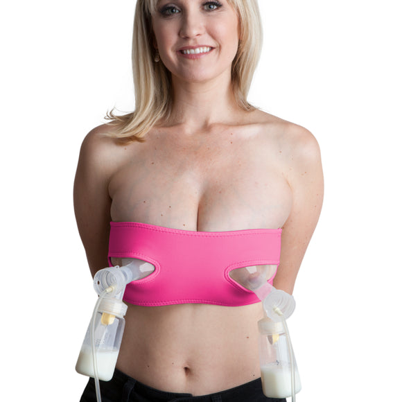 Pump Strap HandsFree Pumping & Nursing Bra – Pump More in Less Time - Fits All Moms, Pink