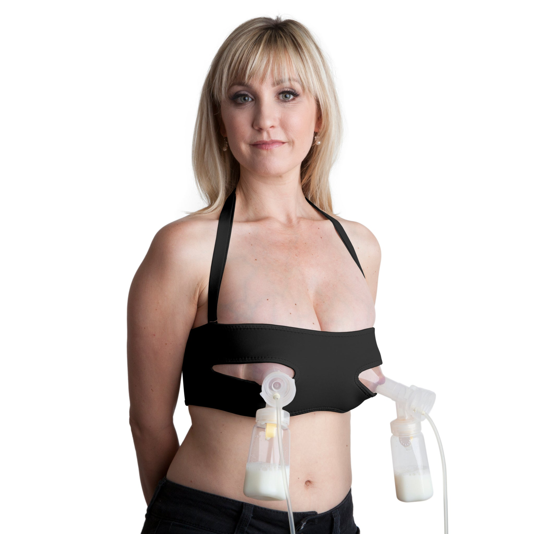 b8e8e9697ac8a ... Pump Strap Hands-Free Pumping   Nursing Bra – Pump More in Less Time ...