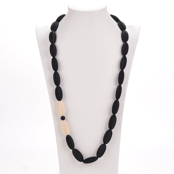 Nursing to Teething Necklace - Black