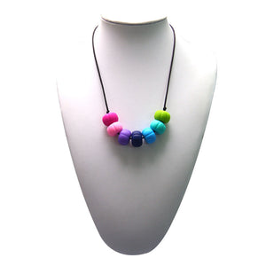 Nursing to Teething Necklace - Rainbow