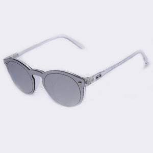 Retro Oval Mirror Sunglasses For Women