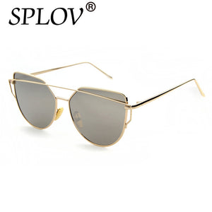 Women's Cat Eye Mirror Aviator Sunglasses