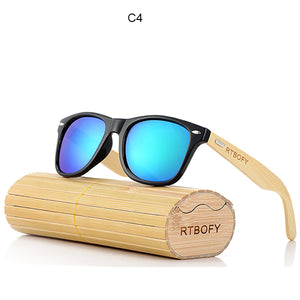 Retro Polarized Bamboo Wood Sunglasses