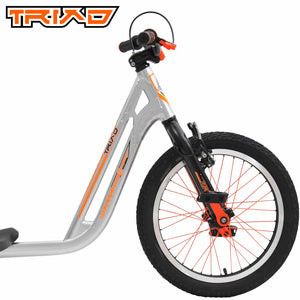Triad COUNTER MEASURE 2 Drift Trike for Kids with 18inch Front Wheel Silver/Orange