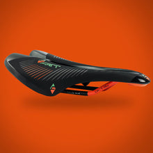 FARR SADDLE – COMFORTABLE LONG DISTANCE BICYCLE SADDLE – ROAD / MTB / GRAVEL - Orange FARR03