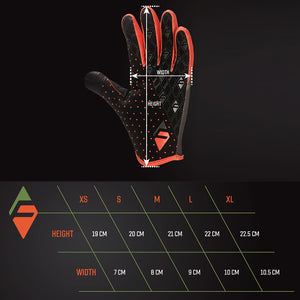 FARR Long Race Gloves Orange