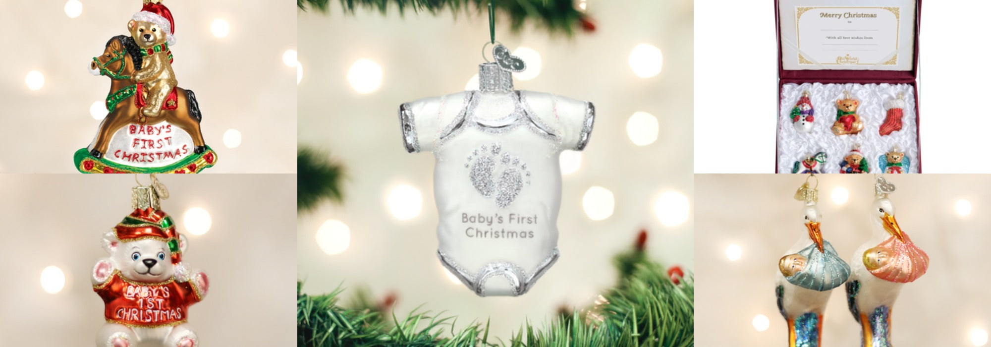 Our 5 Favorite Baby s First Christmas Ornaments – Old World Christmas 8ebf796ce