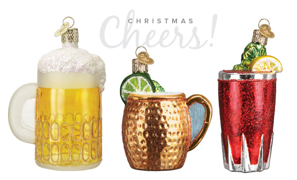 Pint Glass, Moscow Mule, and Bloody Mary Ornament