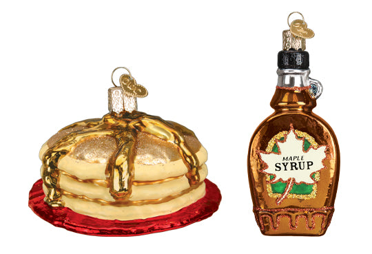 Pancake and Syrup Ornaments