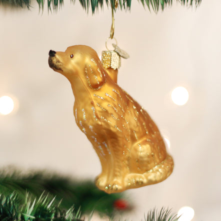 DOODLE DOG GOLDEN RETRIEVER POODLE OLD WORLD CHRISTMAS GLASS ORNAMENT NWT 12457