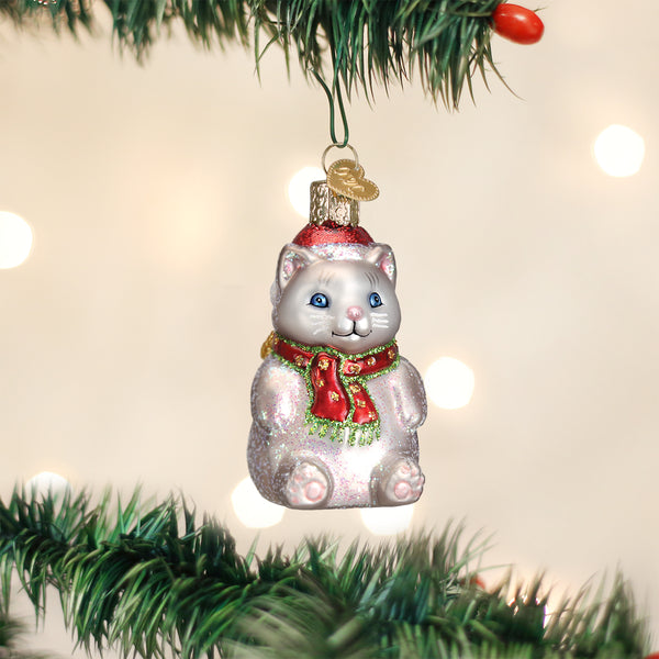 Winter Kitty Ornament