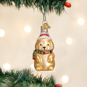 Winter Puppy Ornament