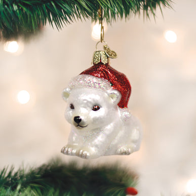 Christmas Polar Bear Ornament