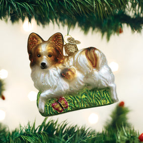 Playful Papillon Ornament