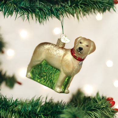 Standing Yellow Lab Ornament
