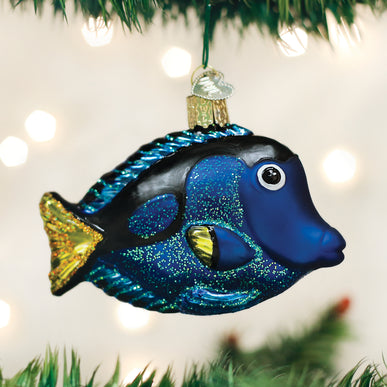 Pacific Blue Tang Ornament