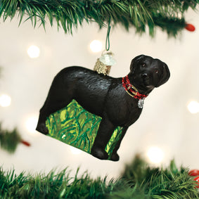 Standing Black Lab Ornament